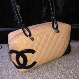 RARE Chanel Cambon Bowler Leather Shoulder Bag